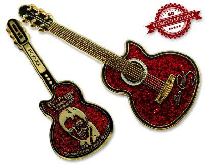 Elvis Guitar Geocoin - Love Edition XLE 50