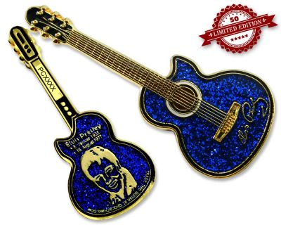 Elvis Guitar Geocoin - Sky Edition XLE 50