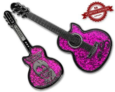 Elvis Guitar Geocoin - Pink Edition XLE 50