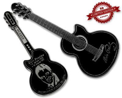 Elvis Guitar Geocoin - Shadow Edition XLE 50