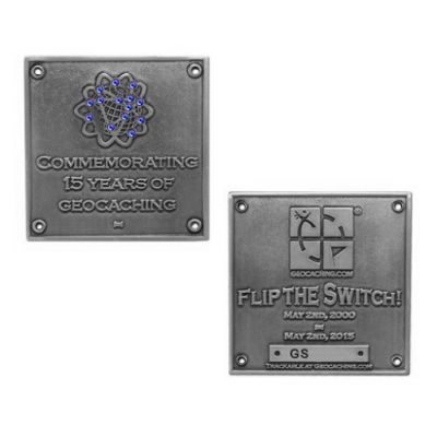 Blue Switch Geocoin Antik Silber LE