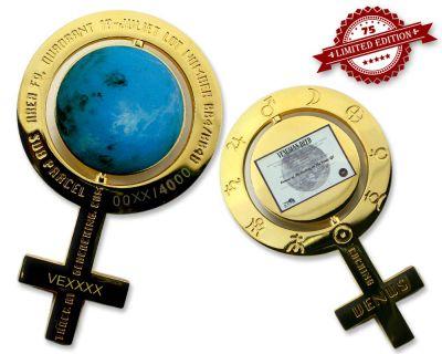 Caching on the Venus Geocoin Pol. Gold XLE 75 (inkl. Venusgr.)