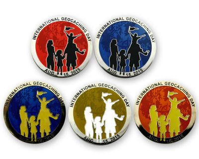 Int. Geocaching Day Geocoin 2015 Sammler SET (5 Coins)