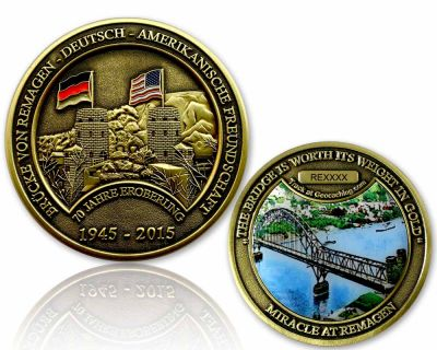 Remagen Geocoin Antik Gold