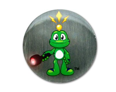 Signal the Frog - Nachtcacher Pin (mit blinkender LED)