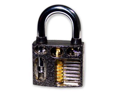 Lockpicking Übungsschloss aus Metall - mit Sichtfenster
