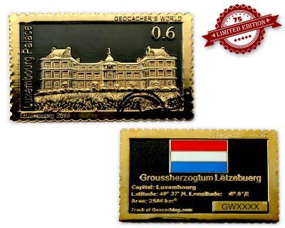Geocachers World Luxembourg Black Nickel / Gold
