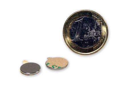20 Stück selbstklebende Scheibenmagnete - 10,0 x 1,0 mm