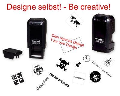 Geocaching Stempel mit Deinem Design - Printy Mini   13 x 6