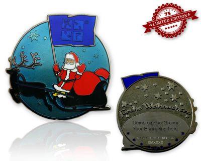 Frohe Weihnachten Weihnachtsmann Geocoin Sky XLE 75
