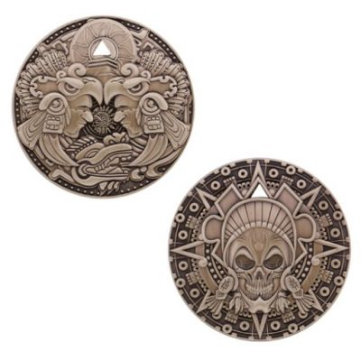 Aztec Pirate Geocoin Antik Gold