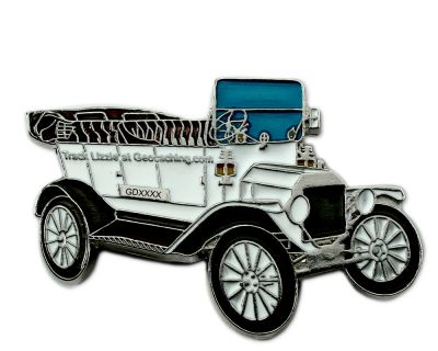 Ford Model T Geocoin - White