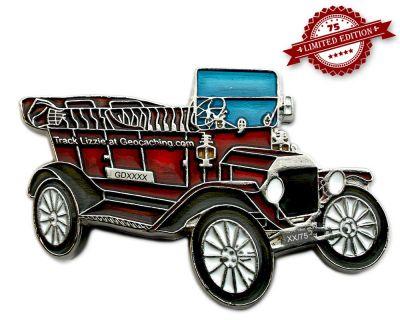 Ford Model T Geocoin - Carmine XLE 75