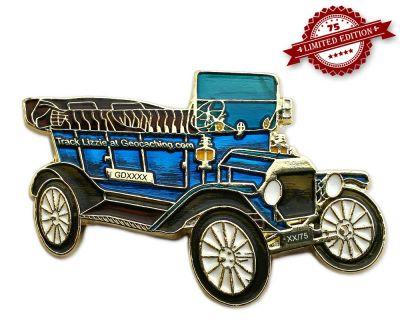 Ford Model T Geocoin - Midnight Blue XLE 75