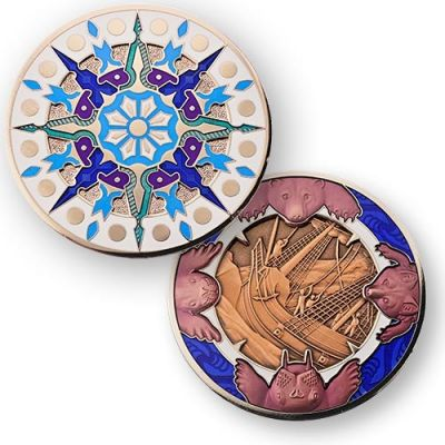 Compass Rose Geocoin 2015 - Ice Cape