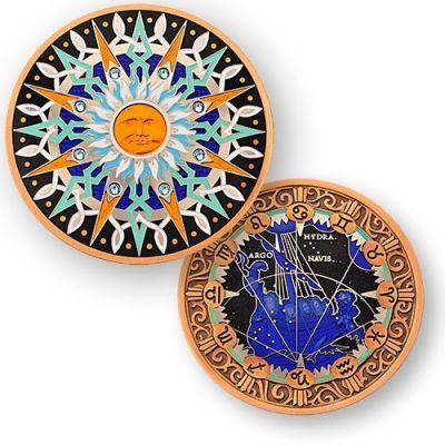 Compass Rose Geocoin 10th Anniversary - Vela