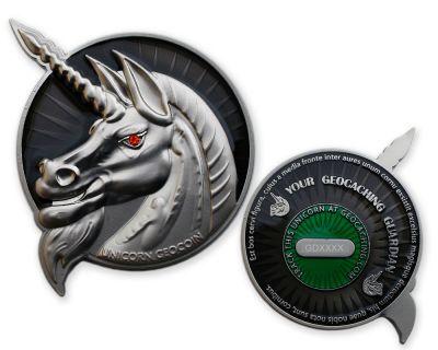 Unicorn - Geocaching Guardian Geocoin Special Silver Edition