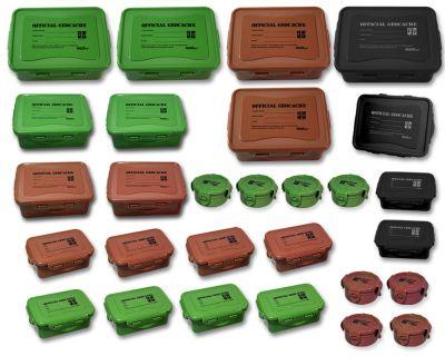 Geocache Boxen Set Deluxe XXL (28 Cachebehälter)