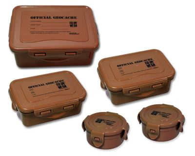 Cachebehälter Set ECO Wood (5 Cachedosen)