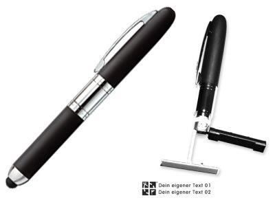 Geocaching Kuli Stempel (Mini Stamp und Touch Pen 3 in 1)