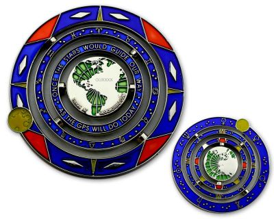 Geocaching Universe Geocoin COSMOS RE
