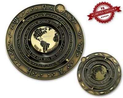 Geocaching Universe Geocoin COMET XLE 75