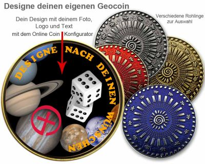 Personal Geocoin - 2 Zoll - Mit deinem eigenen Design -