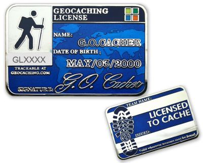 Geocaching License Geocoin - Precise (opt. mit Gravur)