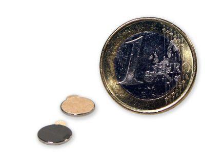 20 Stück selbstklebende Scheibenmagnete - 8,0 x 0,75 mm
