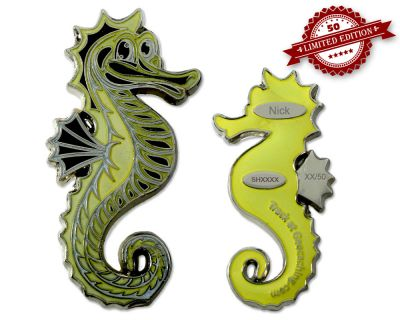 Seahorse Geocoin - Nick XLE 50 GLOW