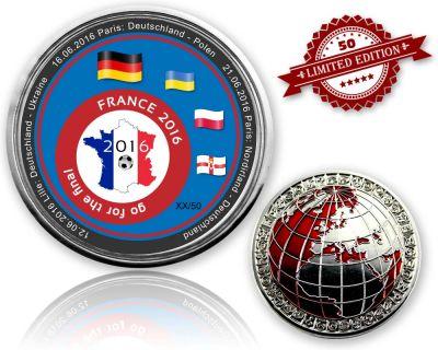 2016 EM Frankreich - Go For The Final Geocoin (XLE 50)