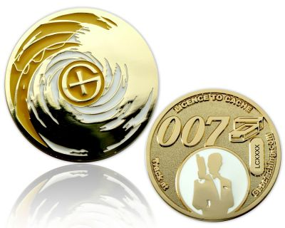 Licence to Cache II Geocoin Goldfinger