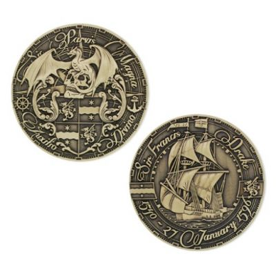 Pirate's Day Geocoin Antik Gold