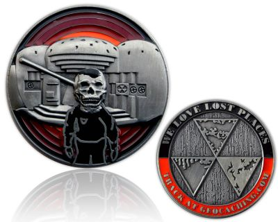 We Love Lost Places Geocoin Silver Edition