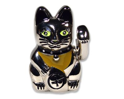 Winkekatze Geocoin Figur - Lucky Kitty Edition (inkl. Copytag)