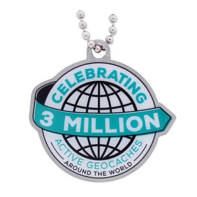 3 Million Geocaches Travel Tag