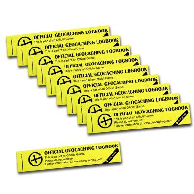Wasserfestes Geocaching PETling Logbuch gelb 100 (10 Stück)