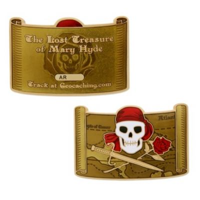 The Lost Treasure of Mary Hyde - Geocoin Set (inkl. Travel Tag)