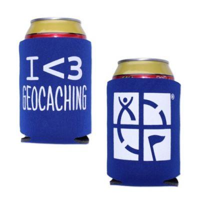 Geocaching.com Dosen-/Flaschenk?hler - blau