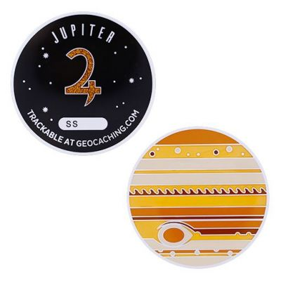 Planetary Pursuit - Solar System Geocoin XL - Jupiter