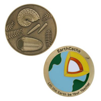 Earthcache 2018 Geocoin (inkl. Travel Tag) - 2 Trackables