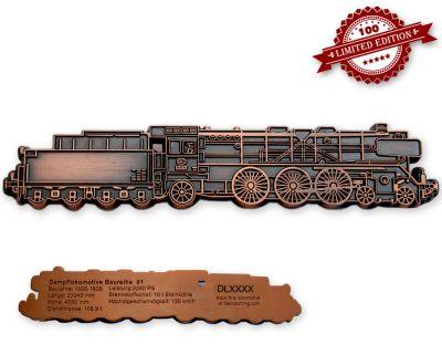 Dampflokomotive Baureihe 01 Geocoin Antik Kupfer LE 100
