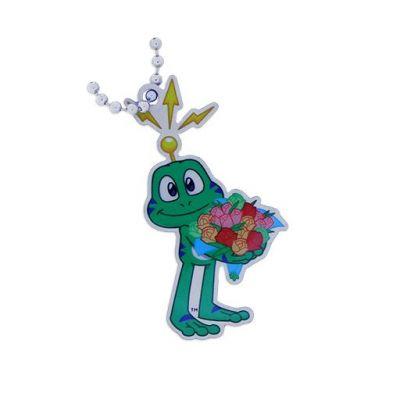 Signal the Frog mit Blumenstrauss Travel Tag