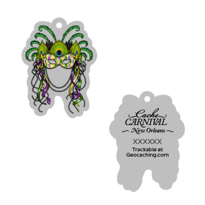 Cache Carnival Souvenir Trackable Tag - New Orleans