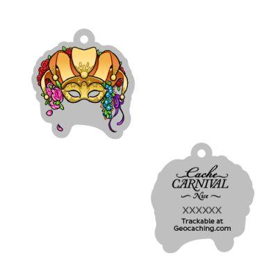 Cache Carnival Souvenir Trackable Tag - Nice