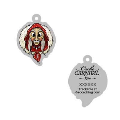 Cache Carnival Souvenir Trackable Tag - Köln