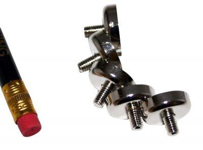 4 Stück 16 mm Runde x 4 mm mit Gewindestift Neodym Topfmagnet