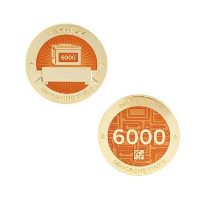 Milestone Geocoin + Tag Set (2 Trackables) - 6.000 Finds