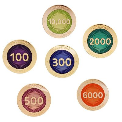 Milestone Pin 100-10.000 Finds (auswählbar)