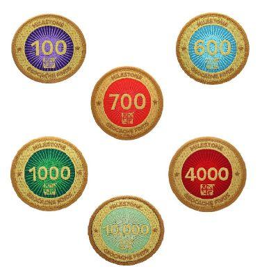 Milestone Aufnäher / Patch 100-10.000 Finds (auswählbar)